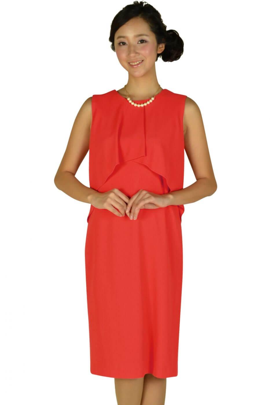 モディファイ(Modify)フロントフレアレッドオレンジドレス