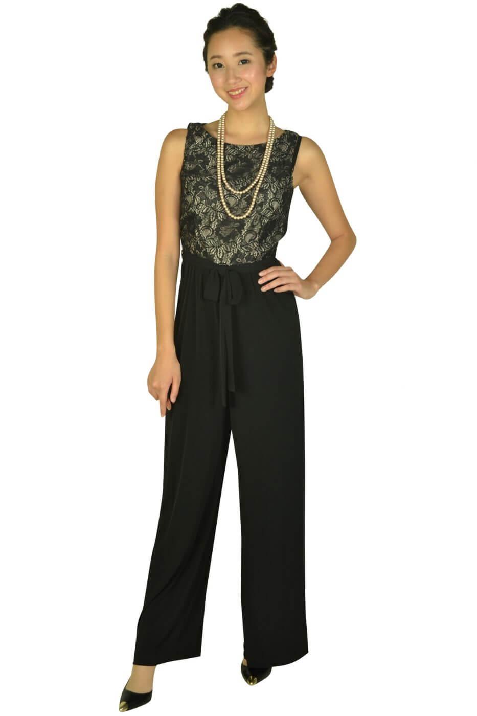 カルバンクライン(Calvin Klein)サイドプリーツネイビードレス
