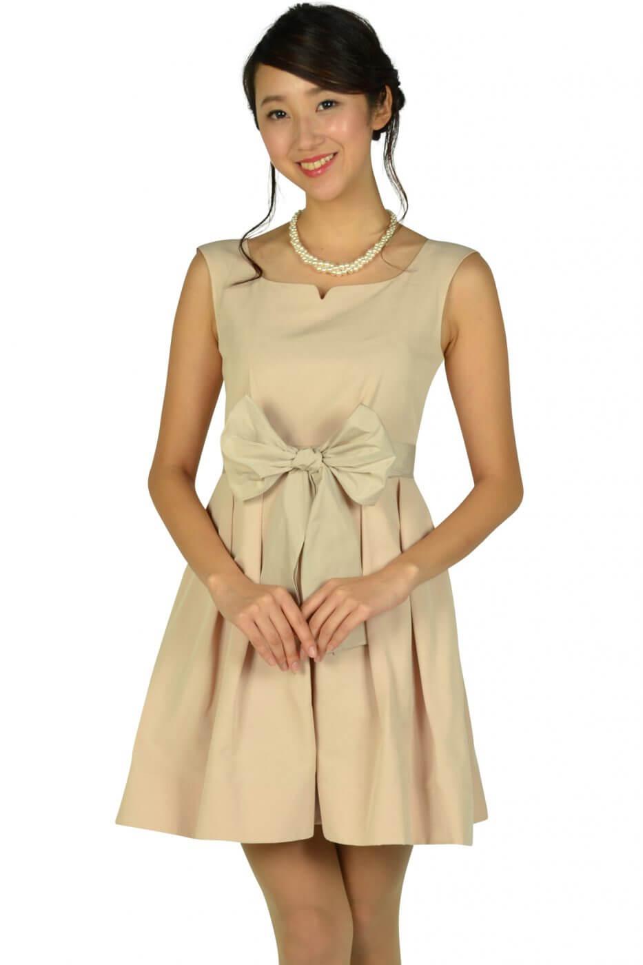 ジルスチュアート(JILLSTUART)ハートシェイプドネックピンクドレス