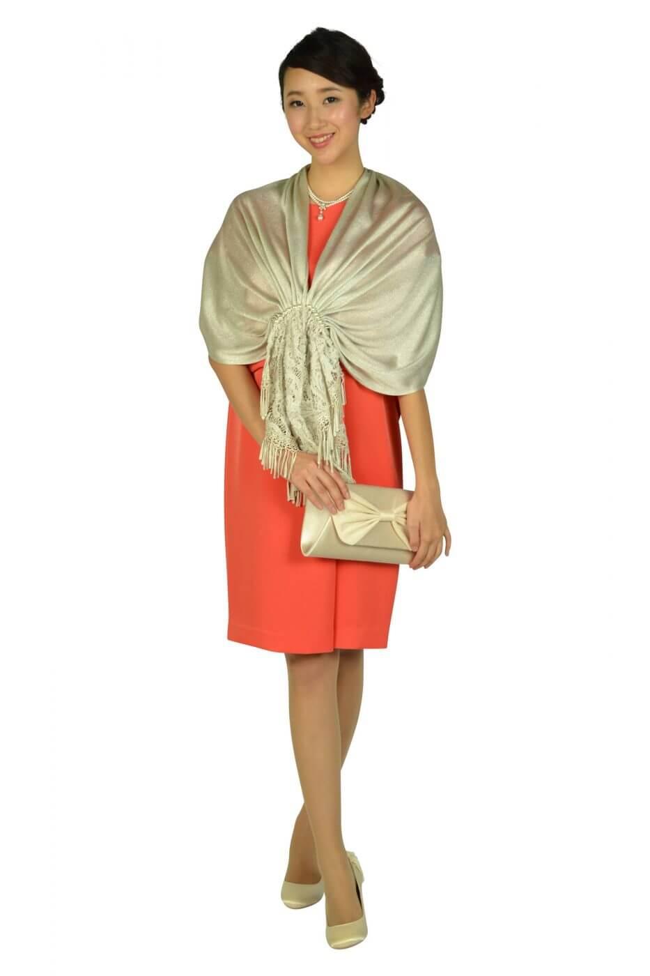 グレースクラス(GRACE CLASS)フレンチスリーブオレンジドレス