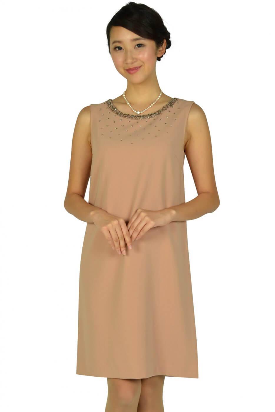 アナイ(ANAYI)上質ピンクベージュドレス