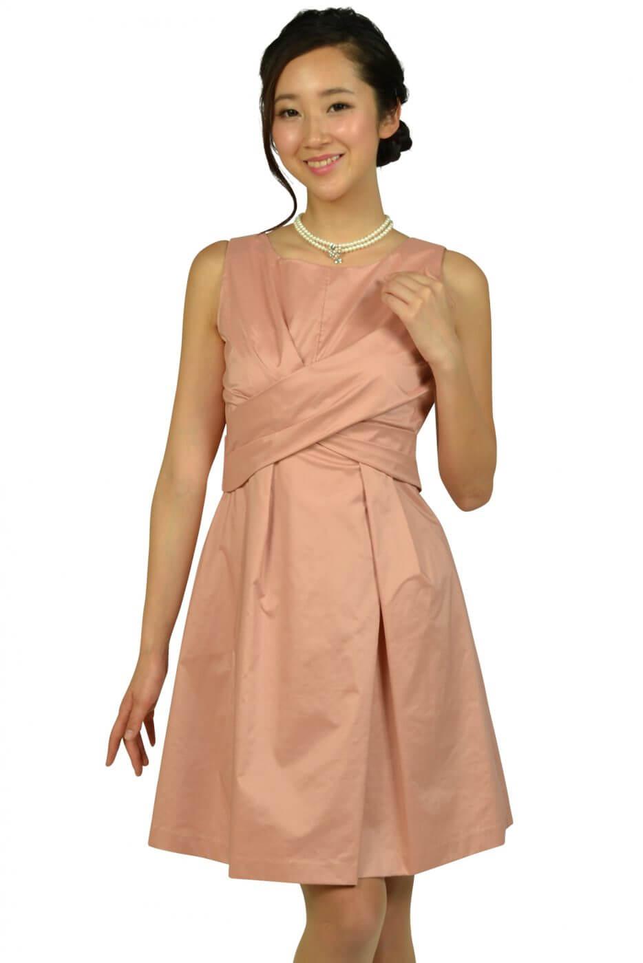 リランドチュール(Rirandture)フェミニンタックピンクベージュドレス