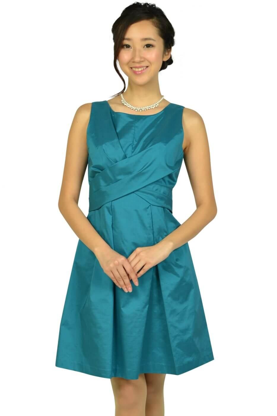 リランドチュール(Rirandture)フェミニンタックブルーグリーンドレス