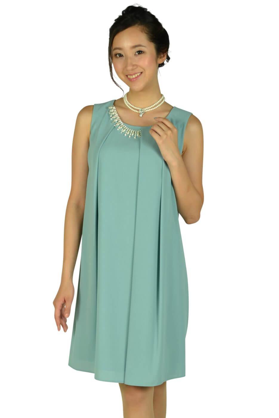 エクリュフィル (ecruefil)パステルミントタックゆったりドレス