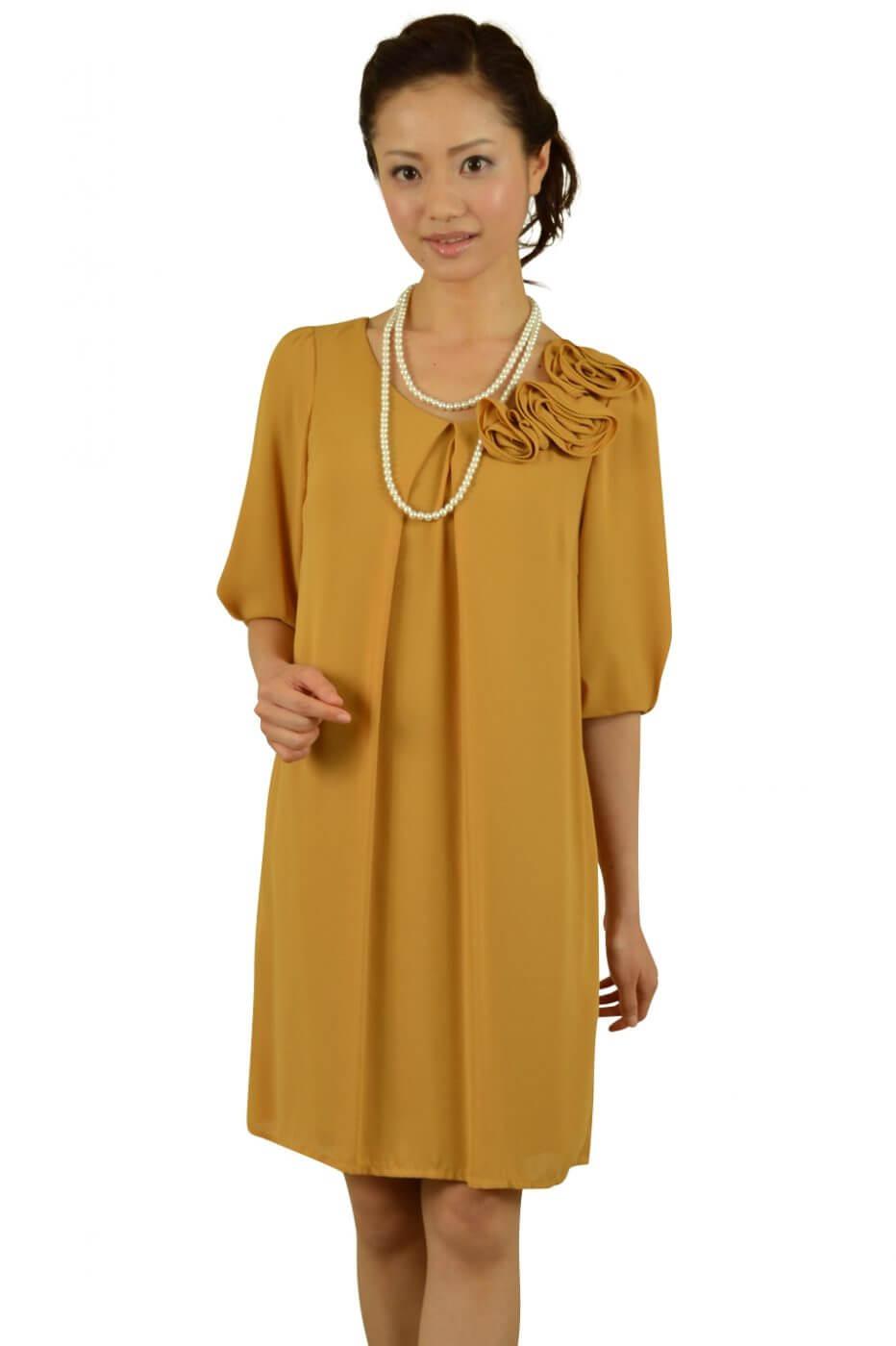 インタープラネット(INTERPLANET)7分袖からしカラードレス