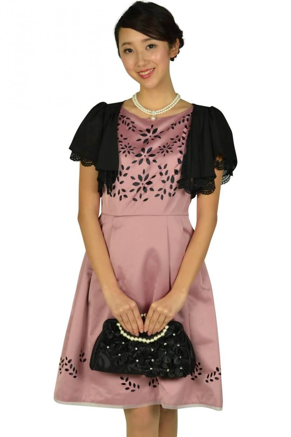 トッカ(TOCCA)フラワーカット品ありピンクドレス