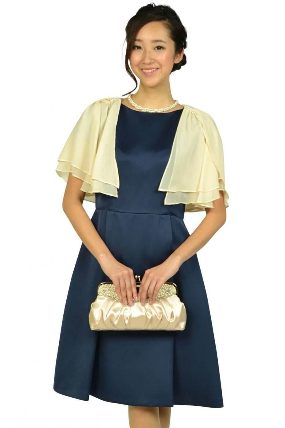ニジュウサンク(23区)上質シンプルネイビードレス