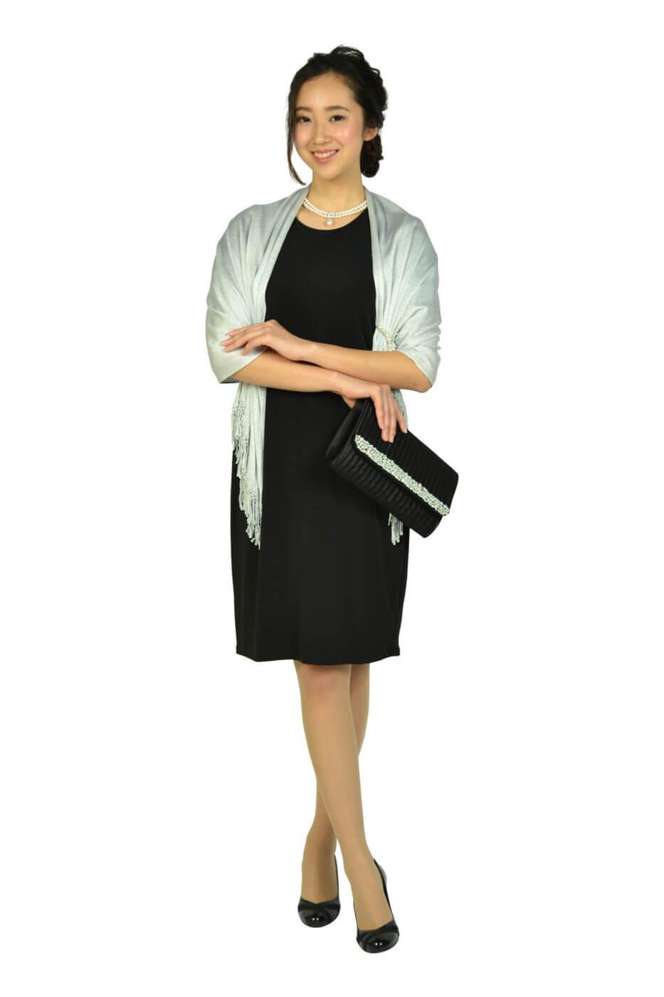 カルバンクライン (Calvin Klein)シースルーフレア袖ブラックドレス
