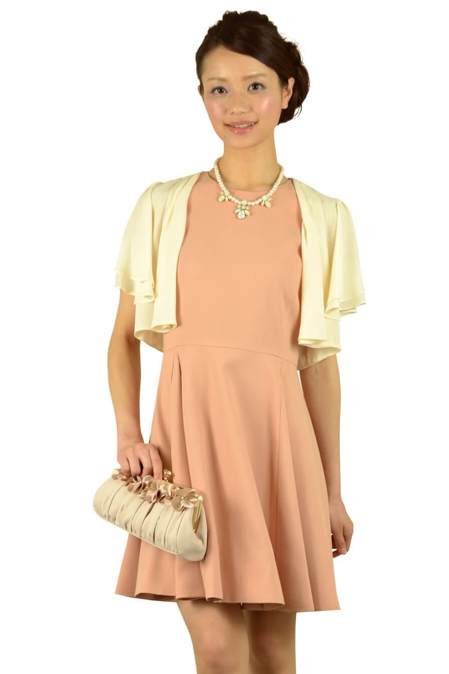 ノーリーズ (NOLLEY'S)上品ベージュオレンジドレス