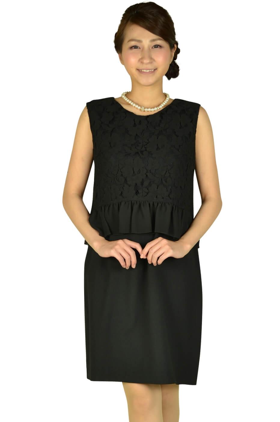 エクリュフィル (ecruefil)ブラックレーストップスドレス