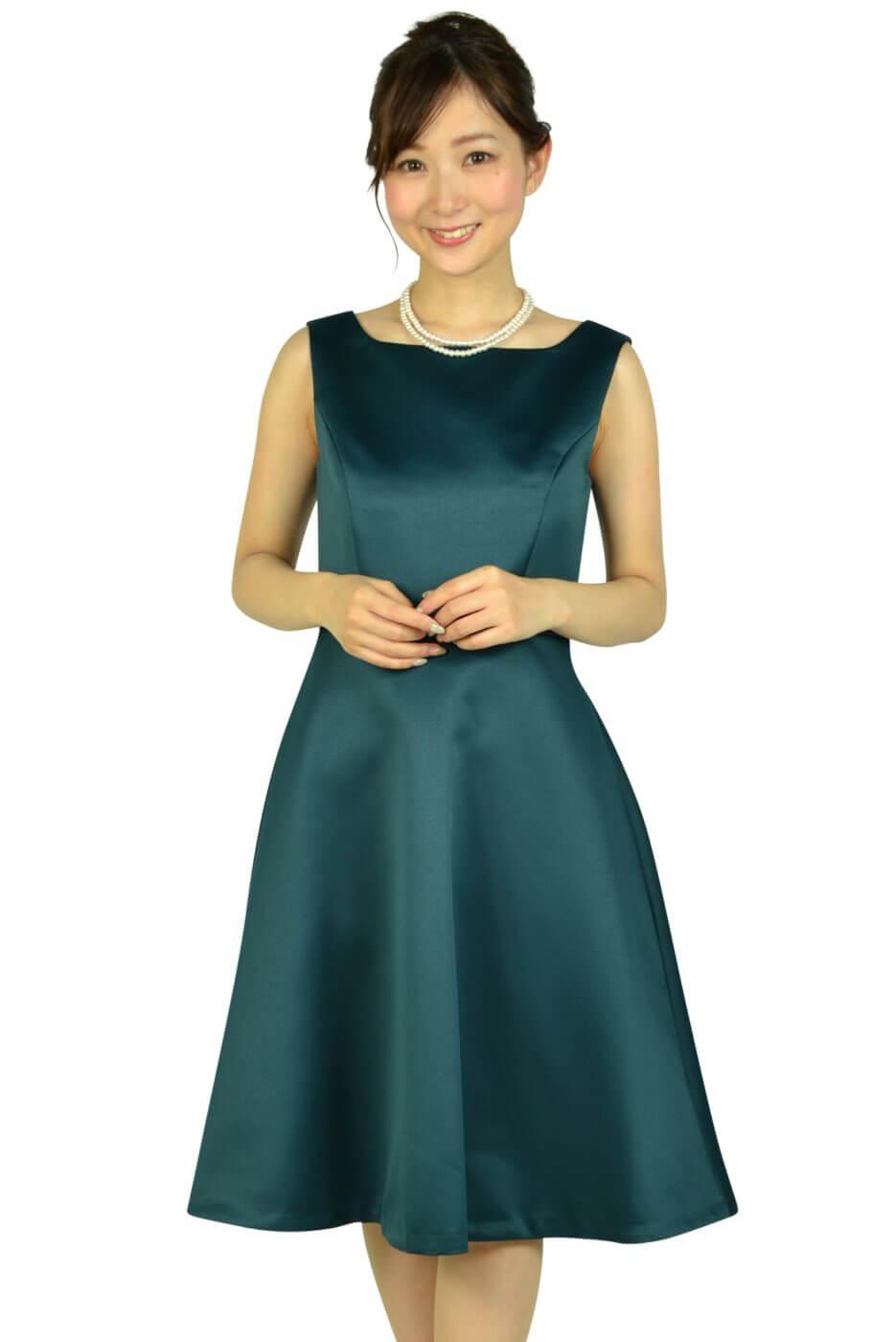 ストロベリーフィールズ (STRAWBERRY-FIELDS)上品シンプルグリーンドレス