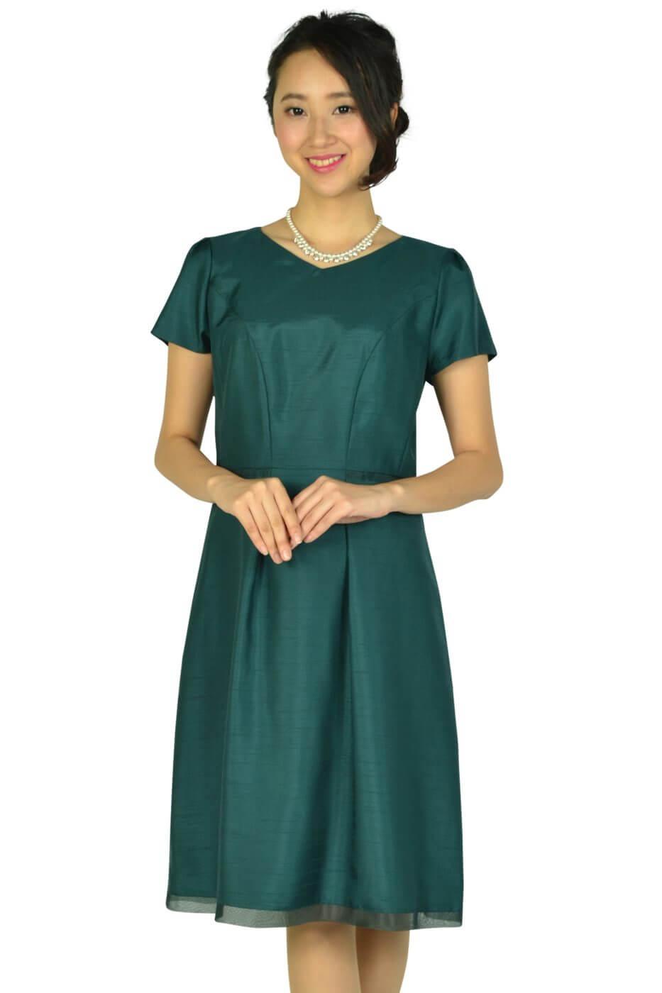 リフレクト (Reflect)Vネックシャンタングリーンドレス