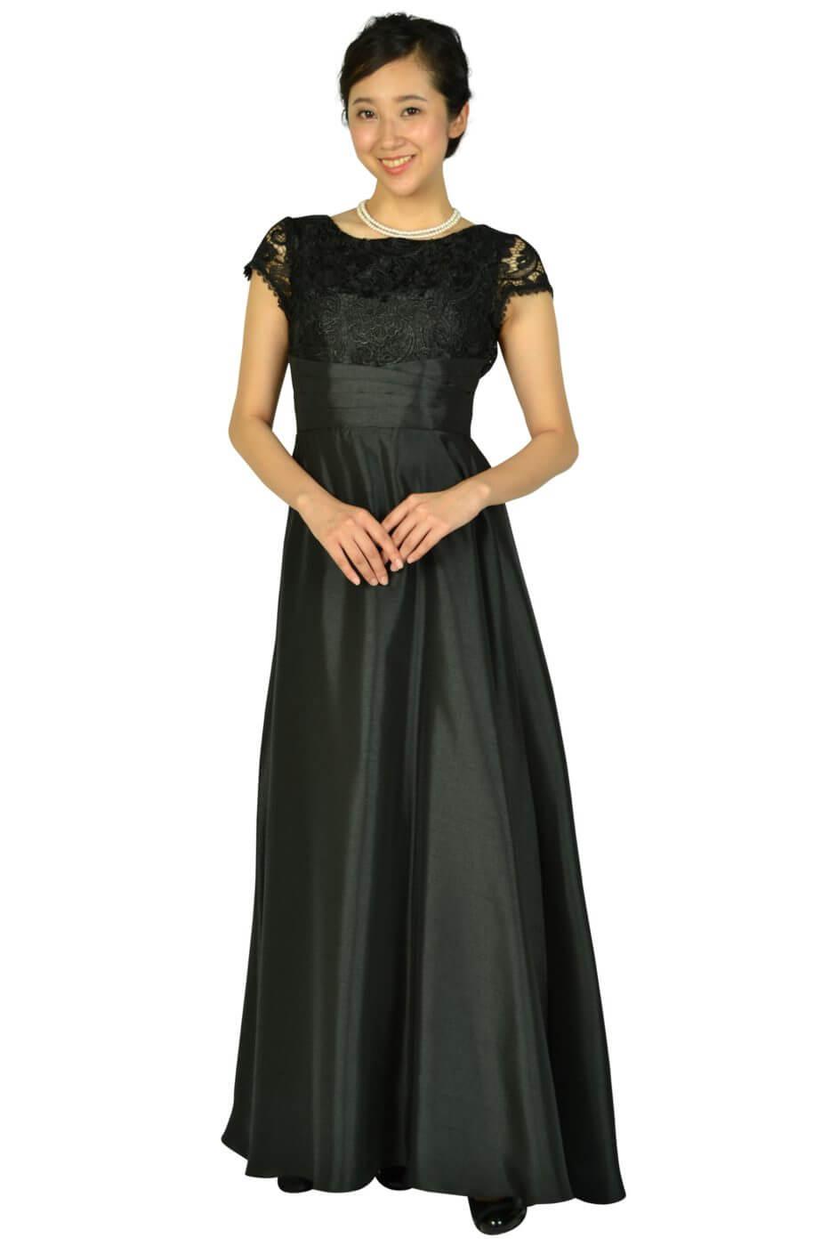 リュクス グレース (LUXE GRACE)パニエ付きエレガントブラックロングドレス