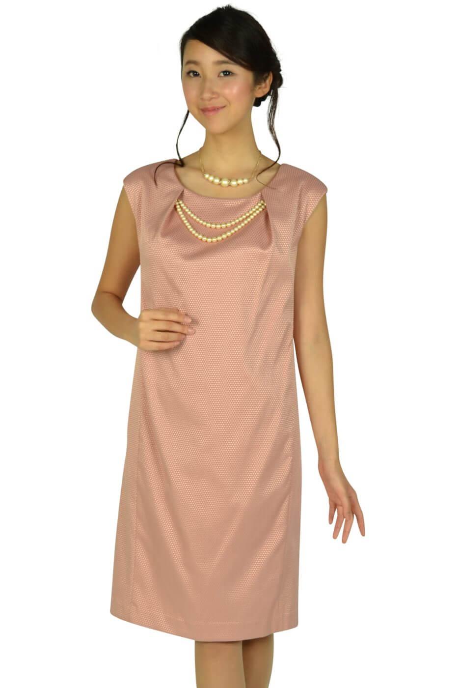 ナノユニバース (nano・universe)パール飾り付きピンクドレス
