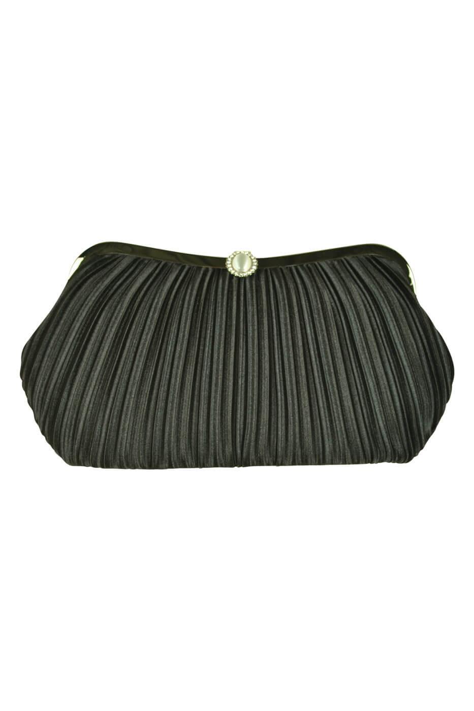 ビヲミナ (VIWOMINA)上品プリーツブラックバッグ